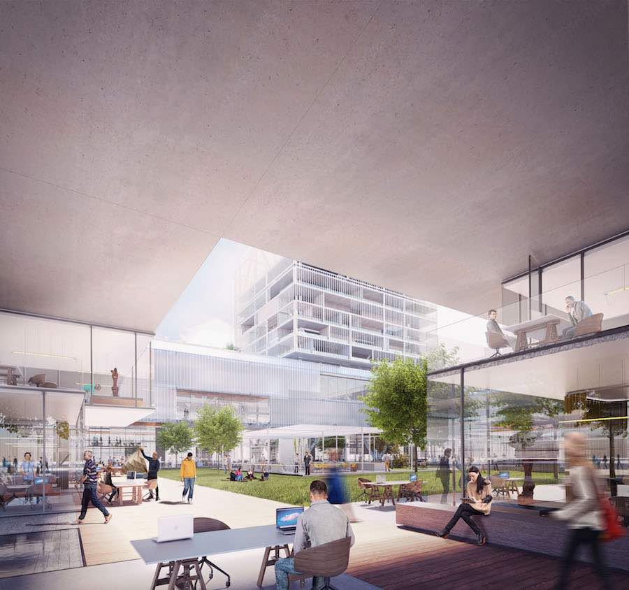 Co-working spaces - Carlo Ratti's masterplan for Milan's World Expo site - Image by Carlo Ratti Associati.