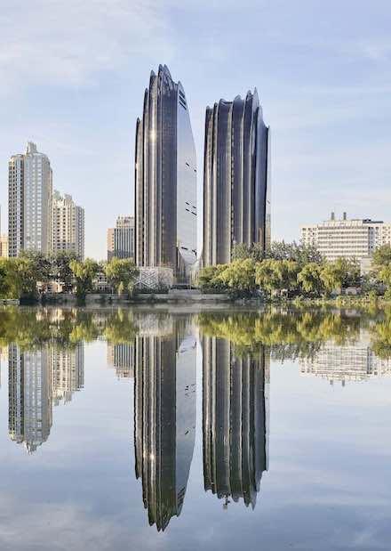 Beijing's montainous towers