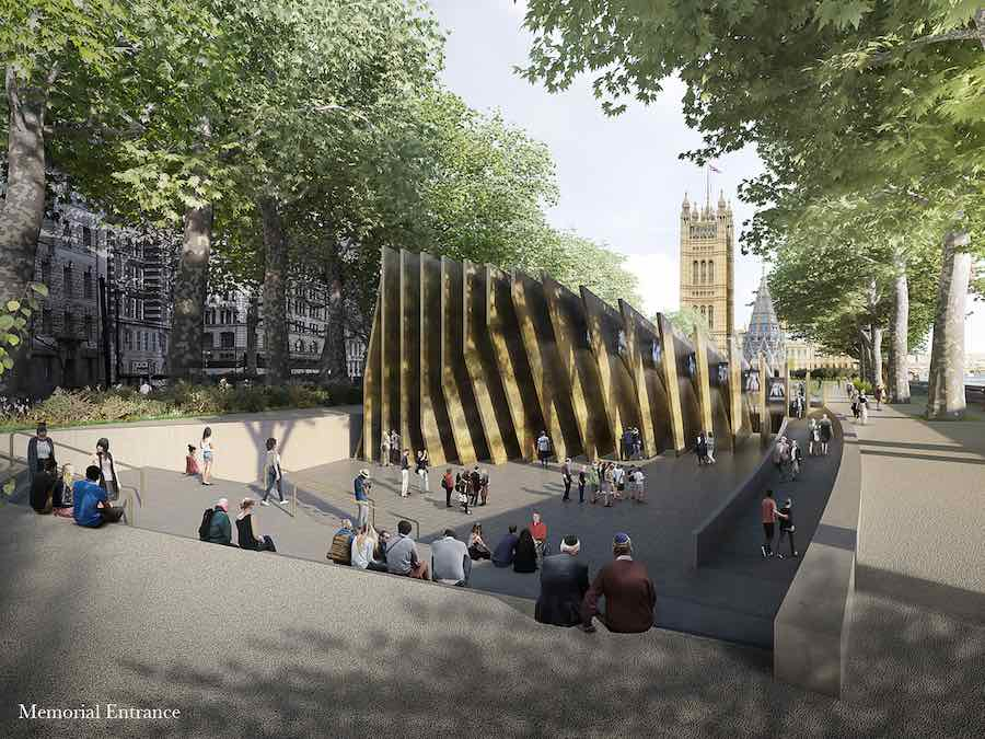 Front view of London Holocaust Memorial - image by Adjayes Associates and Ron Arad.
