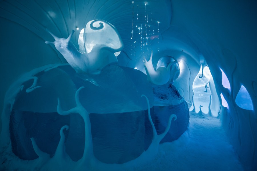 "Art suite ""Ground Rules"" by Carl Wellander & Ulrika Tallving - Photo by by Asaf Kliger, ©ICEHOTEL."