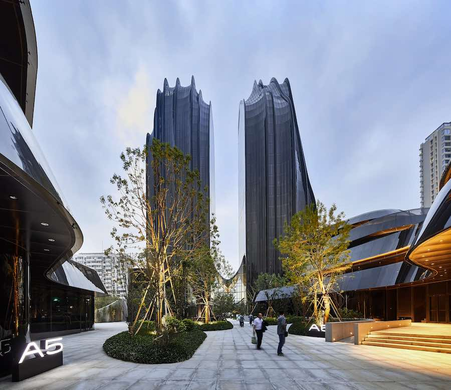 Chaoyang Park Plaza - Photo by Hufton+Crow; courtesy of MAD Architects.