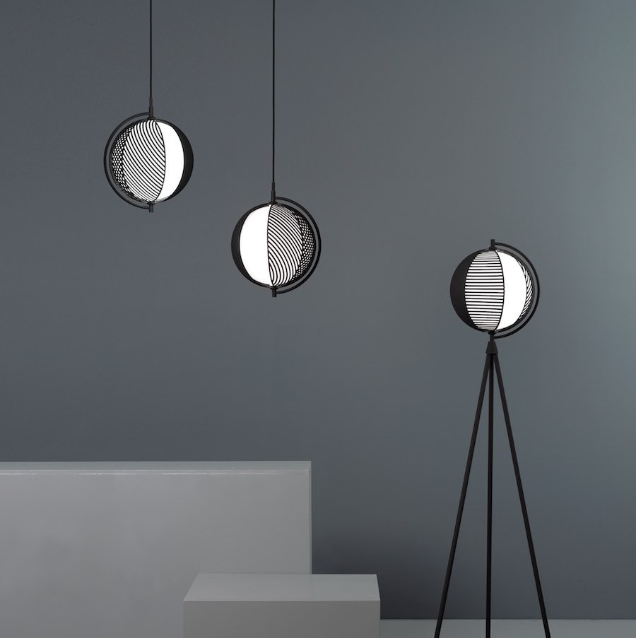 Mondo pendant and floor lamps by Antonio Facco for Oblure - Courtesy of Oblure.