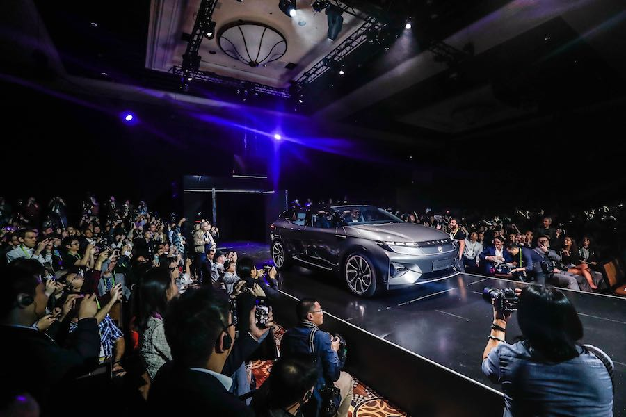CES 2018. Premiere of BYTON autonomous SUV - Photo: courtesy of Byton.