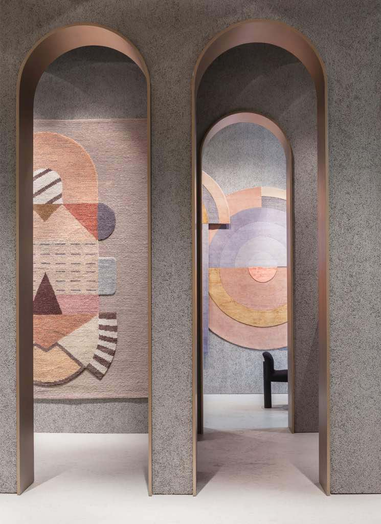cc-tapis: Cartesio rug by Elena Salmistraro (on the left) - Photo by Andrea Bartoluccio.