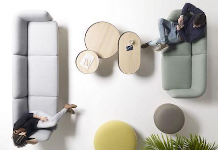 Millennials co-working lounge set