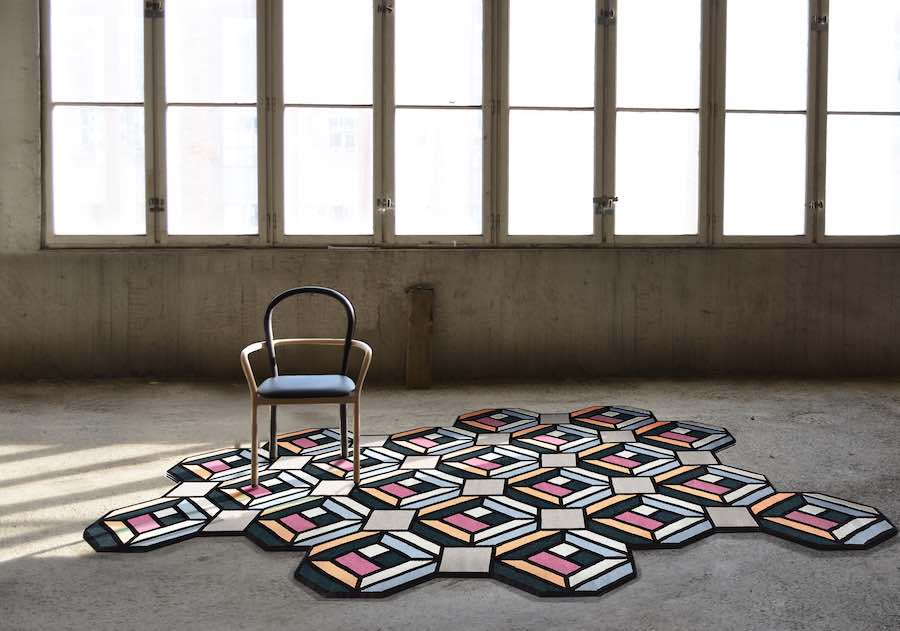 'Parquet' foldable carpet by Front for Gan - Courtesty of Front.