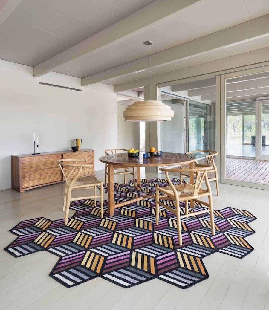 'Parquet' foldable carpet by Front for Gan - Courtesty of Gan.