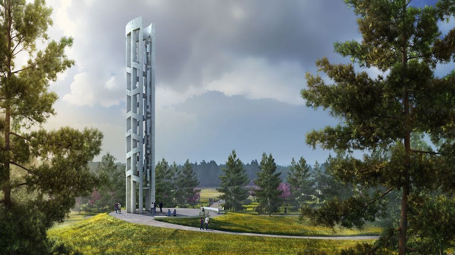 Tower of voices - courtesy of BioLinia and Paul Murdoch Architects-