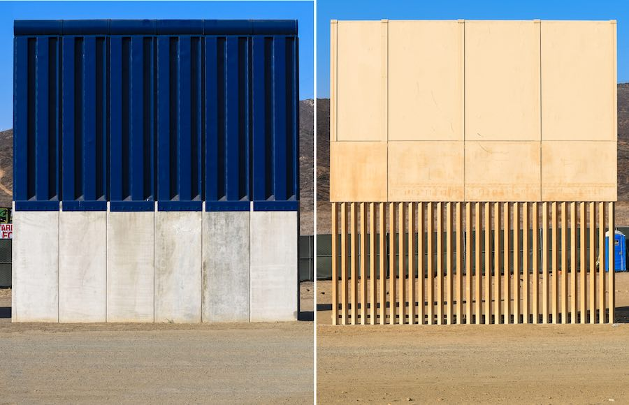 Are US-Mexico border wall prototypes a work of art?
