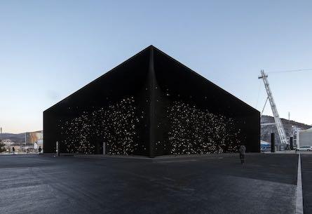 Winter Olympics' super-black pavilion