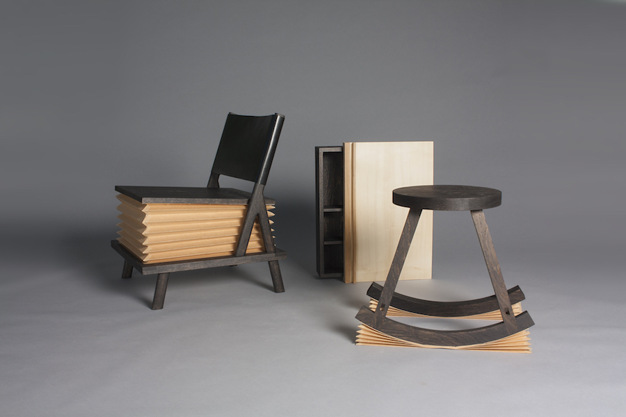 5 contemporary Nordic seats. Hemmo Honkonen musical furniture - Courtesy of Stockholm Massen.