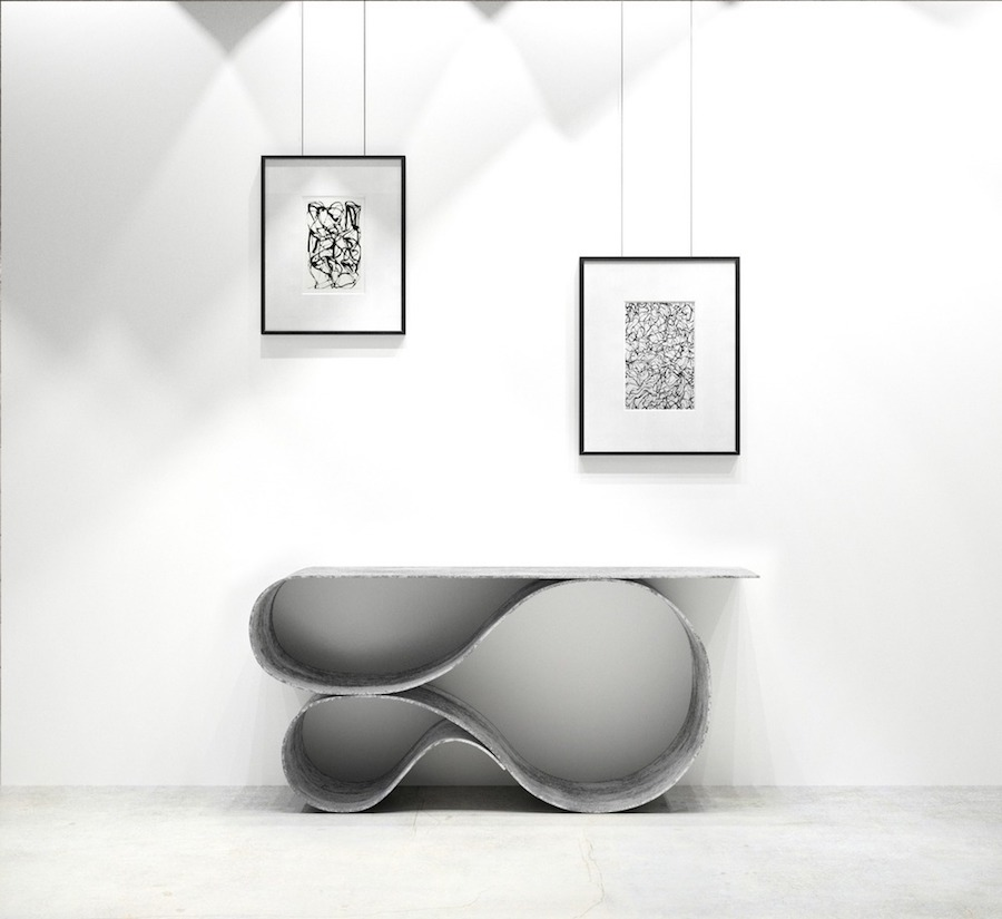 Neal Aronowitz Concrete Canvas collection - WHORL console - All photos courtesy of Neal Aronowitz.