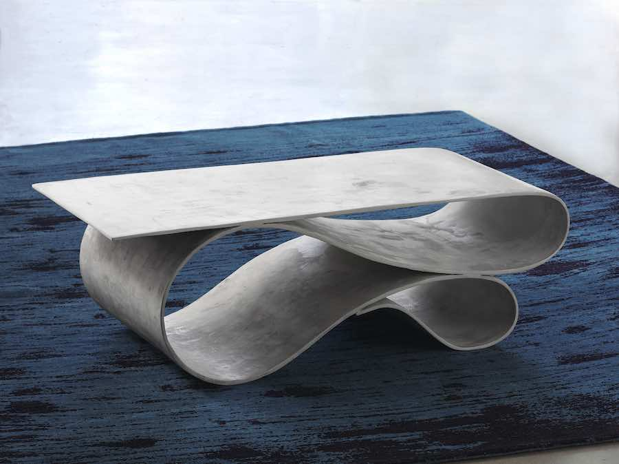 Neal Aronowitz Concrete Canvas collection - WHORL console - Photo Courtesy of Neal Aronowitz