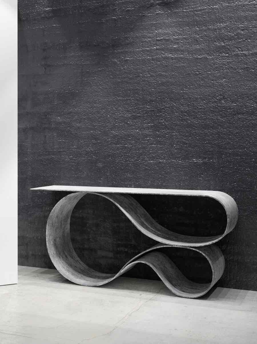 Neal Aronowitz Concrete Canvas collection - WHORL console - Photo by Ouum Studio.