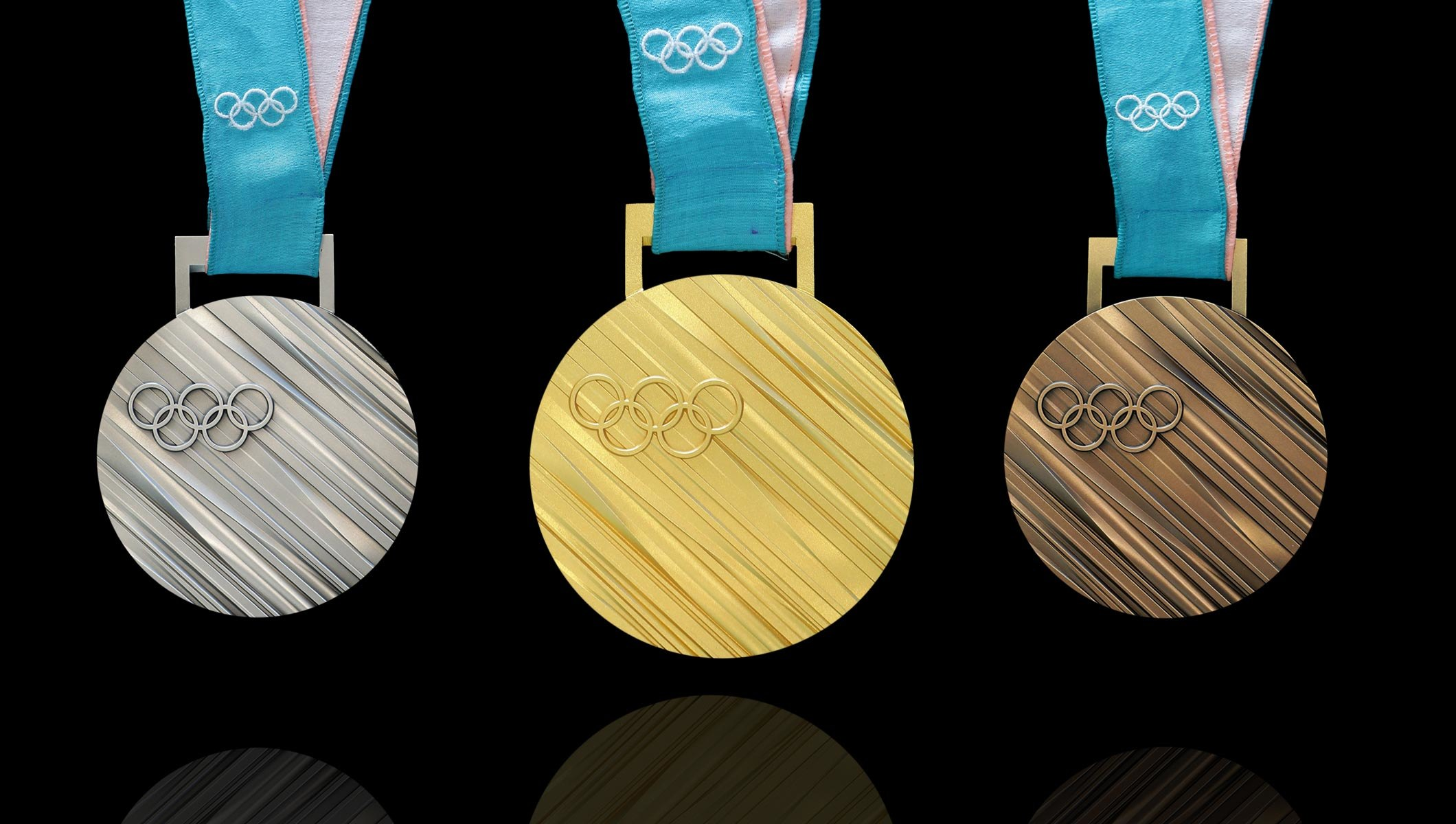 Medals of PyeongChang Winter Olympics 2018