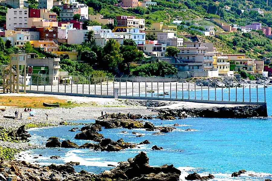 Ceuta border fence - Wikimedia, CC.
