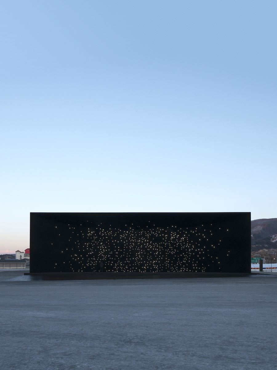 Asif Khan's super black pavilion @ PyeongChang Olympics 2018 - Photo: © Luke Hayes