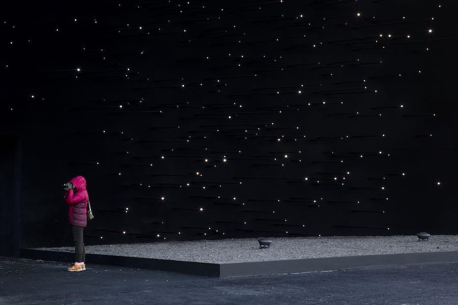 Asif Khan's super black pavilion @ PyeongChang Olympics 2018 - Photo: © Luke Hayes