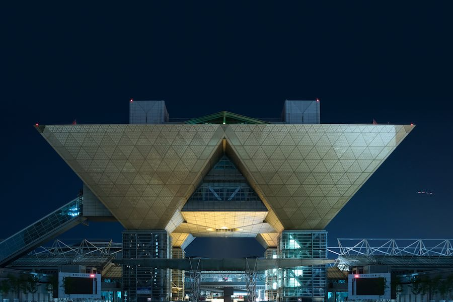 Big Sight. Tokyo Blade Runner-style nightscapes - Photo by Tom Blachford