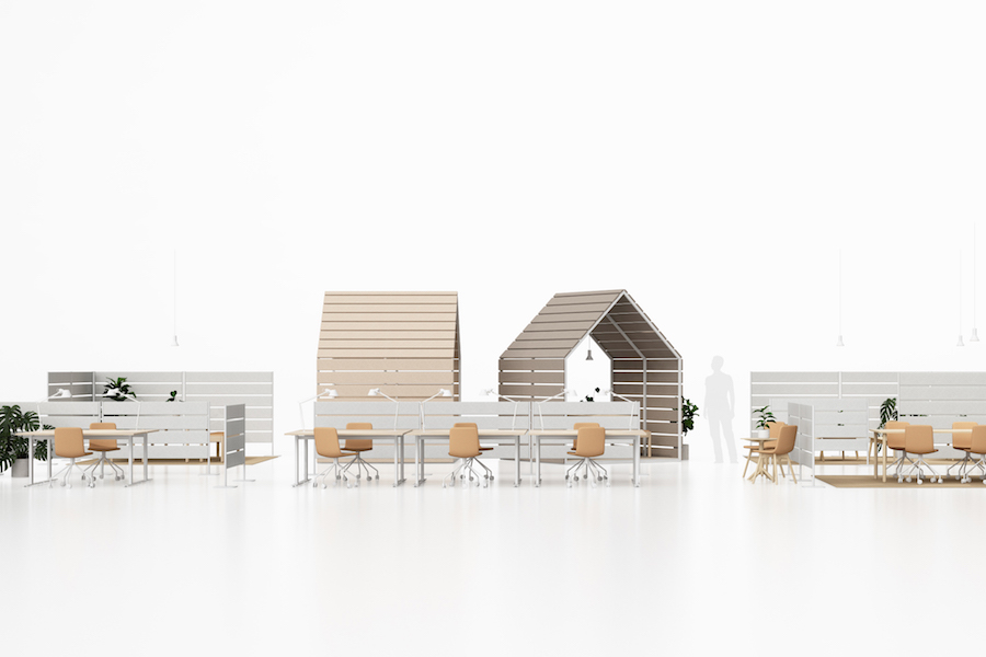 The Barn & Fences office furniture collection by Johan Kauppi for Glimakra of Sweden - Photo: courtesy of Glimakra of Sweden.