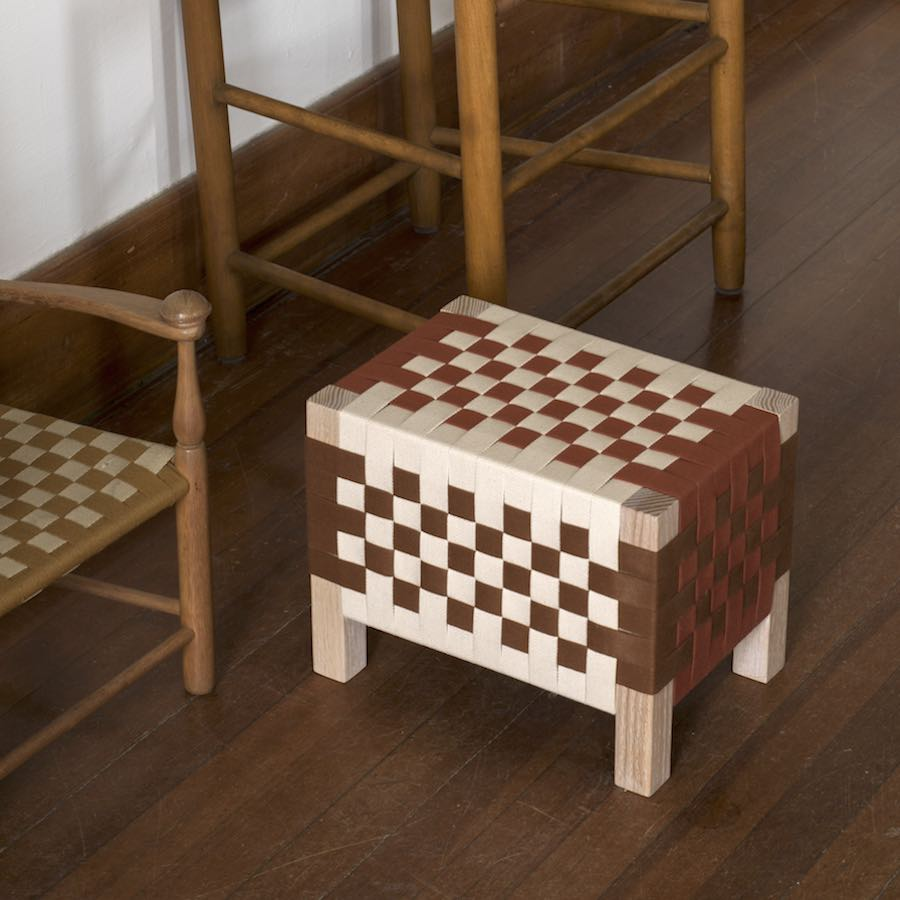 Furnishing Utopia @ Design Within Reach in NYC. L&G woven stool - Courtesy of Ladies & Gentlemen