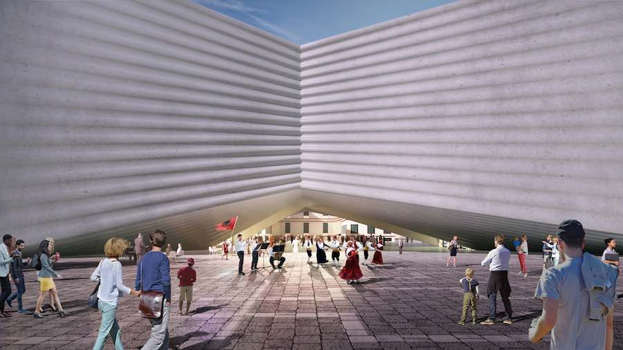 National Theatre of Albania in Tirana by BIG Bjarke Ingels Gourp - Image by BIG.