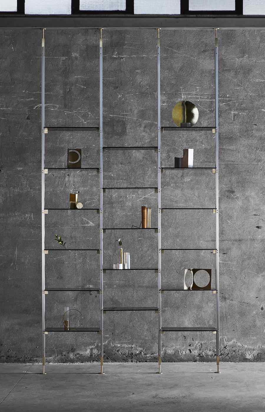 Handicrafts collection. Marianne shelving system by Federica Biasi - Photo by Matteo Imbriani - Courtesy of Mingardo.
