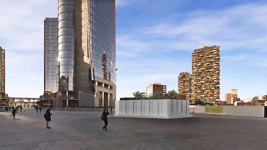 Pierattelli Architetture's Secret garden in Piazza gae Aulenti - Image by Pierattelli Architetture.