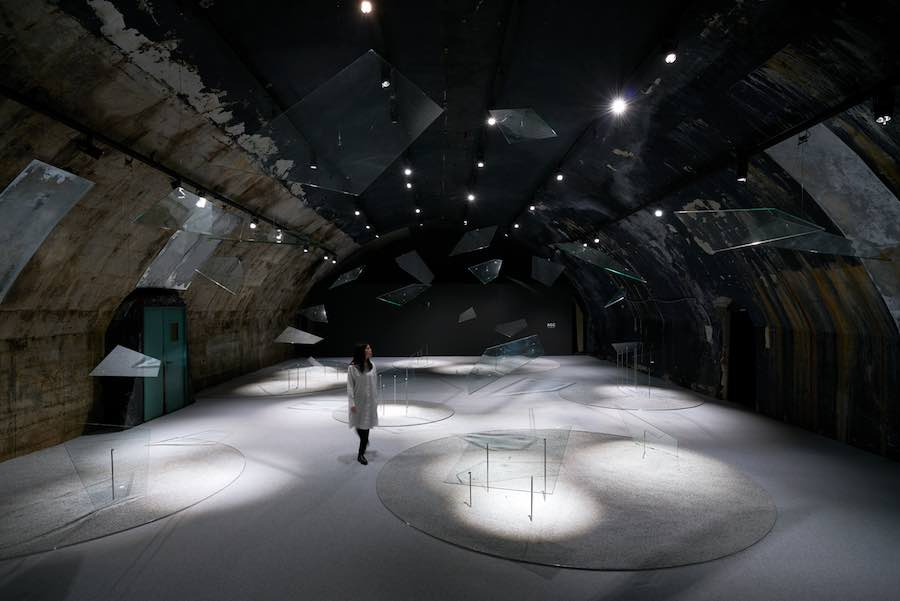 AGC's sound generating glass @ Soundscape installation in Milan - Photo by Akihide Mishima, courtesy of Asahi Glass Company.