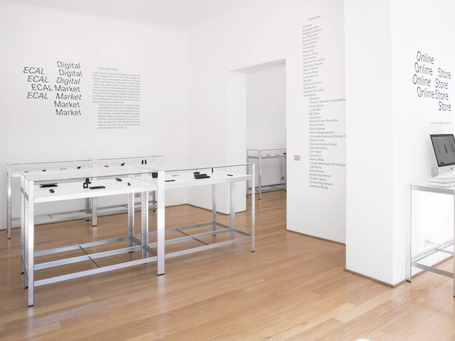 ECAL Digital Market. Exhibition view - Photo: courtesy of ECAL.