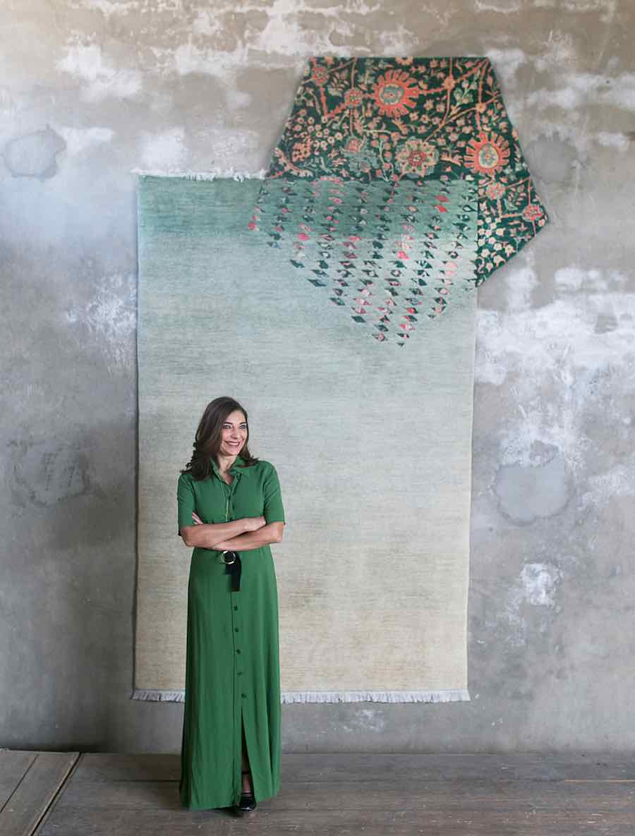 Nada Debs in Afghanistan with FBMI - Photo: courtesy of Nada Debs Design Studio.