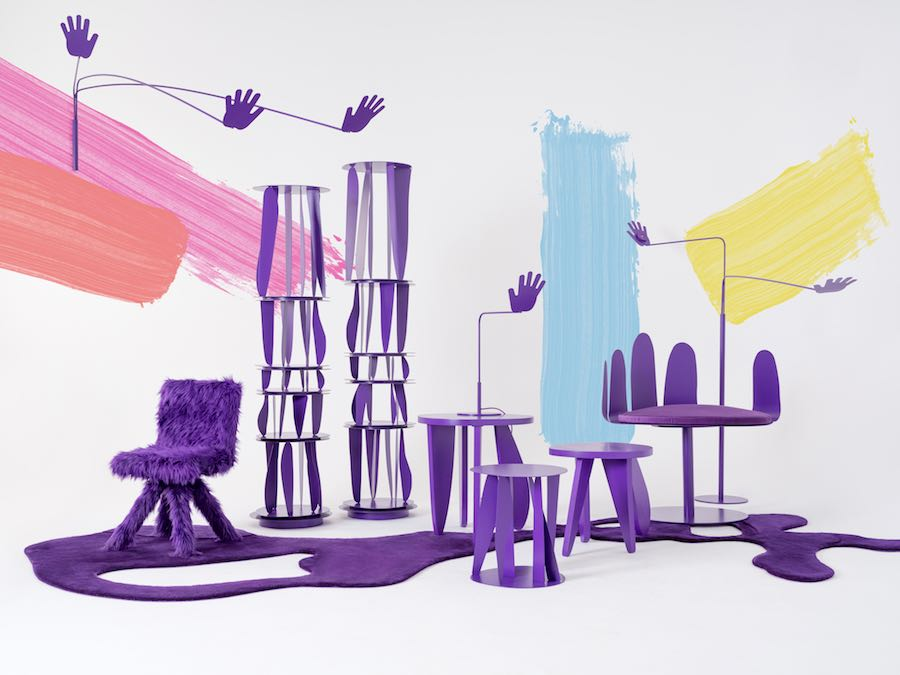 Crosby Studios' ultraviolet and hands-full capsule collection for Opening Ceremony - Photo by Crosby Studios