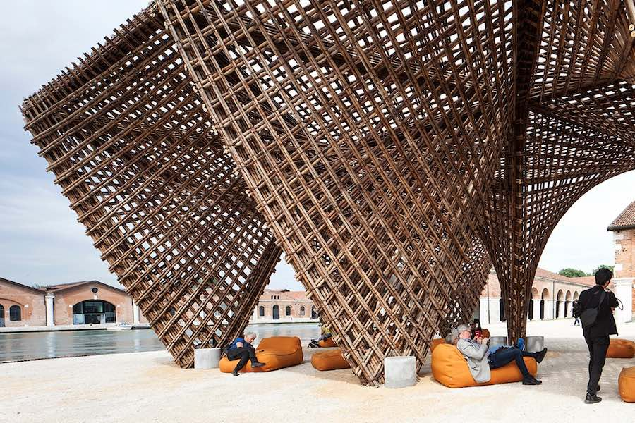 """Bamboo Stalactite"" installatiopn by Vo Trong Nghia/VTN Architects - Photo by Francesco Galli - Courtesy of La Biennale di Venezia."