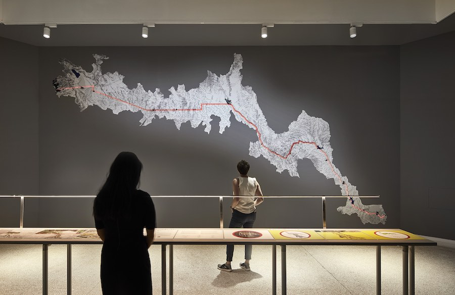 "US Pavilion. ""MEXUS: A Geography of Interdependence"" by Estudio Teddy Cruz + Fonna Forman - Photo © Tom Harris Courtesy of the School of the Art Institute of Chicago and the University of Chicago."