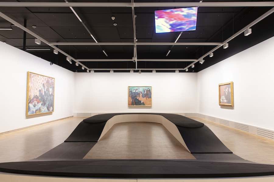 """Edvard Munch: Between the Clock and the Bed"" Exhibition design by Snøhetta - Photo by Ivar Kvaal."