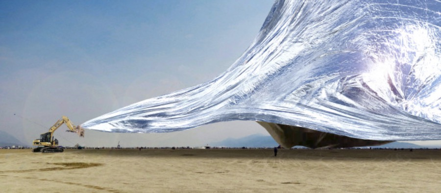 THE BLANKET at Burning Man 2018 - Image by Alex shtanuk.