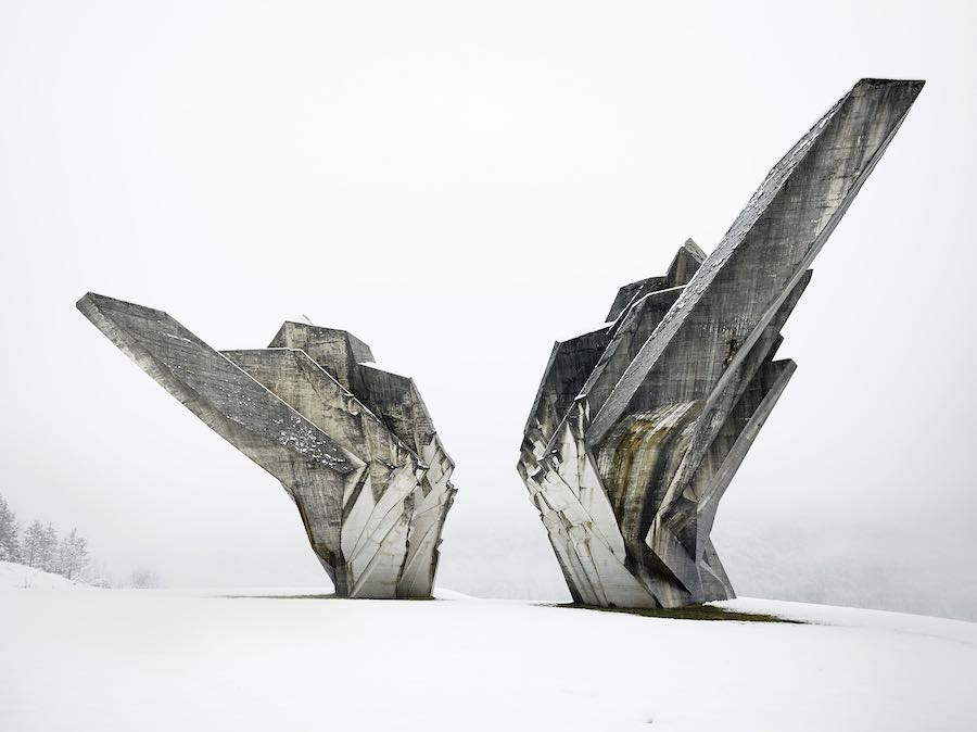 Monument to the Battle of the Sutjeska in Bosnia and Herzegovina, 1965-71 - Photo bt Valentin Jeck; courtesy of MoMA.