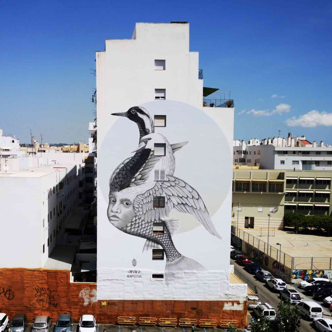 HOPE mural by Alfalfa - Photo by Bloop Festival.