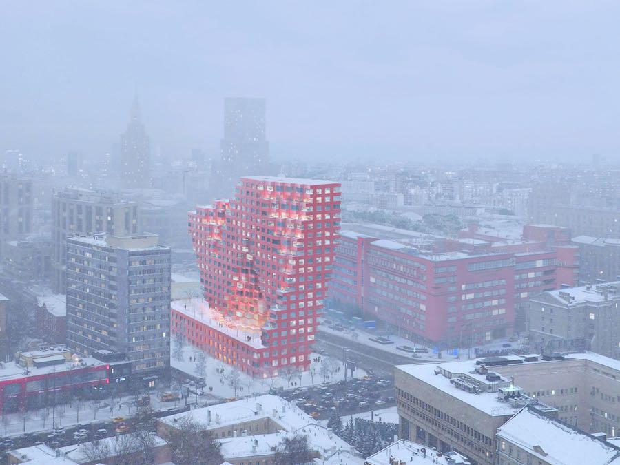 Silhouette building Moscow - Image by MVRDV.