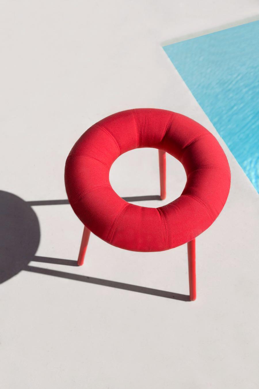 Doughnut-inspired stool by Mikiya Kobayashi.