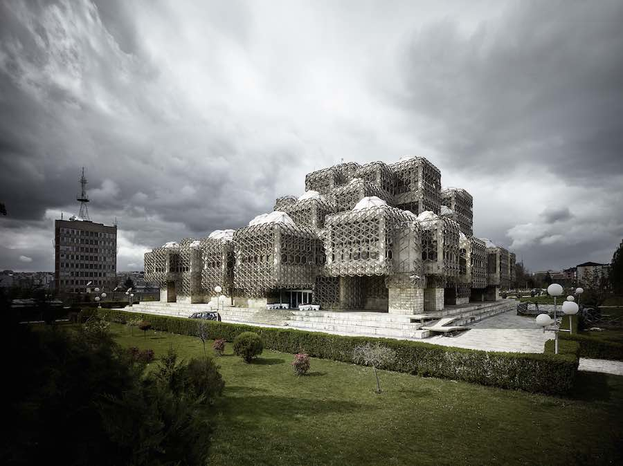 Valentin Jeck -Library of Kosovo - Courtesy of MoMA