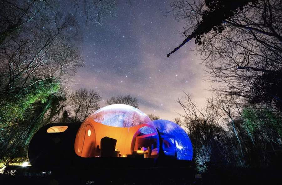 5 innovative tent designs. Photo by Finn Lough resort.