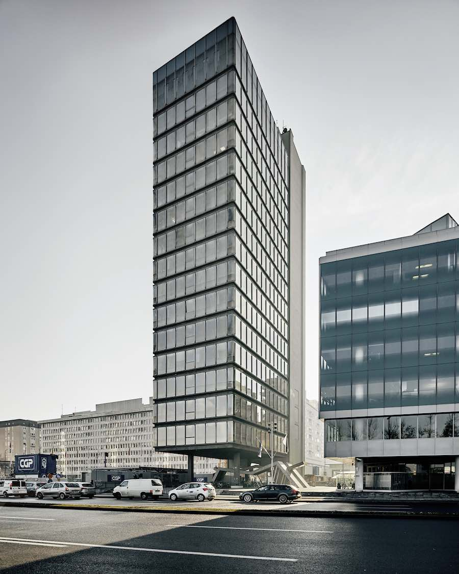 1978 office tower in Ljubljana by Milan Mihelič - Photo by Valentin Jeck, courtesy of MoMA.