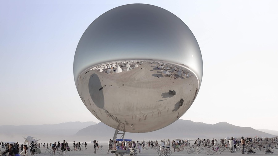 The ORB by Bjarke Ingles and Jaco@ Burning Man 2018 - Courtesy of BIG.