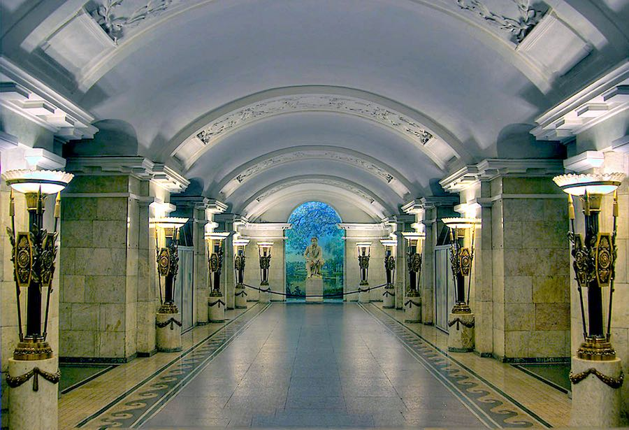 St Petersburg's Metro, Pushkinskaya Metro station - Photo by Polyrus, CC.
