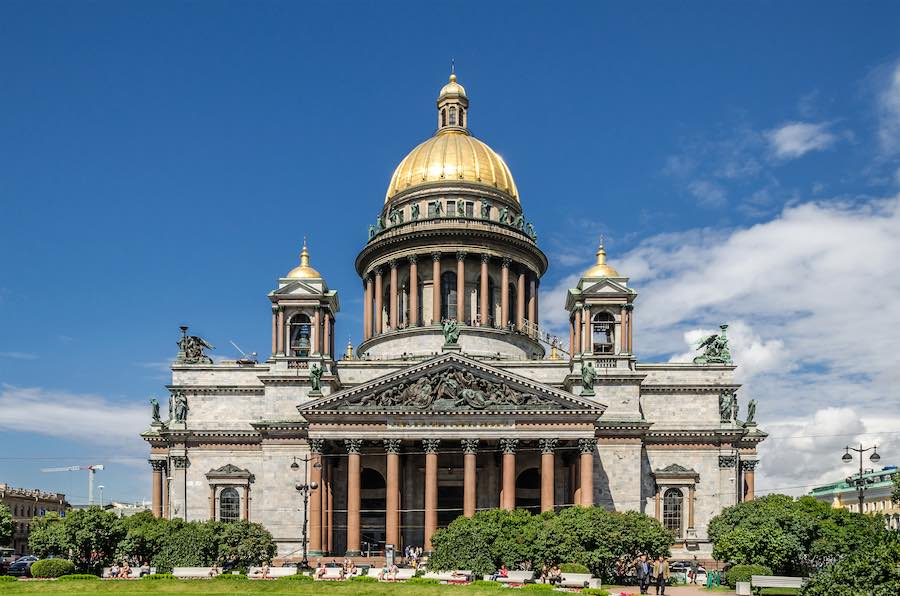 St Petersburg. Saint Isaac's Cathedral - Photo by Alex 'Florstein' Fedorov, CC.