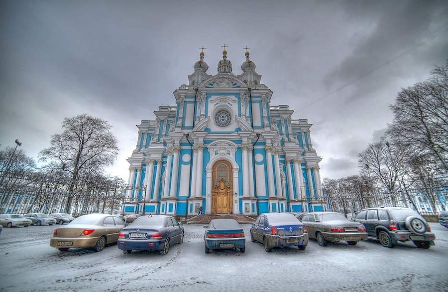 St Petersburg. Smolny Cathedral - Photo by Marco Markovich, CC.