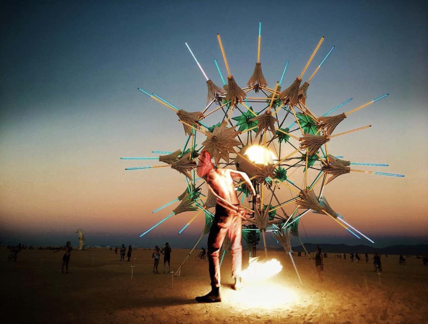 Burning Man 2018 - Radia Lumia - Photo via IG Follow @fuego_sol