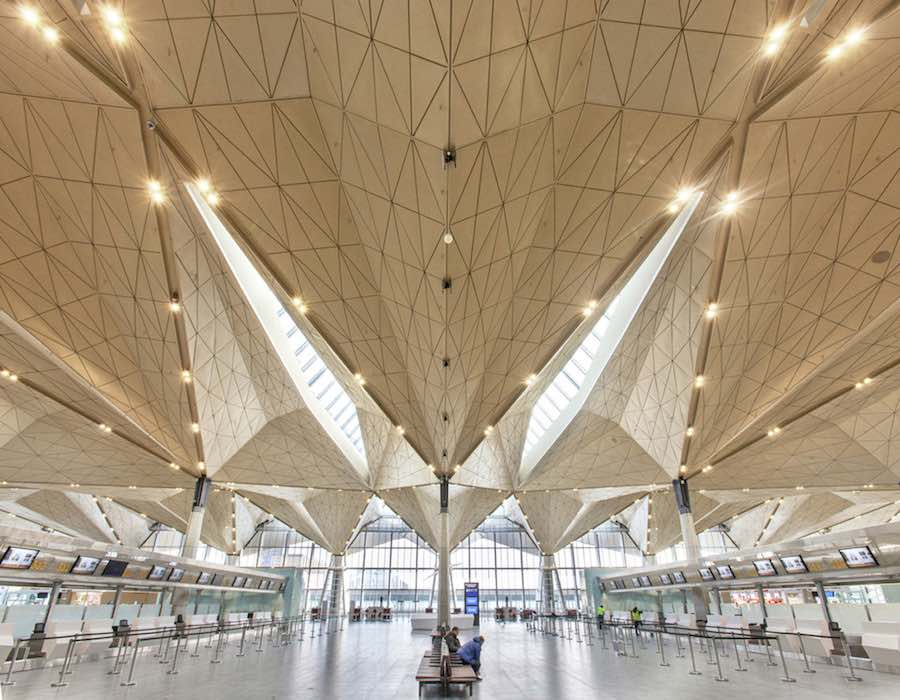 Pulkovo International Airport - Photo by Yuri Molodkovets courtesy of Grimshaw.
