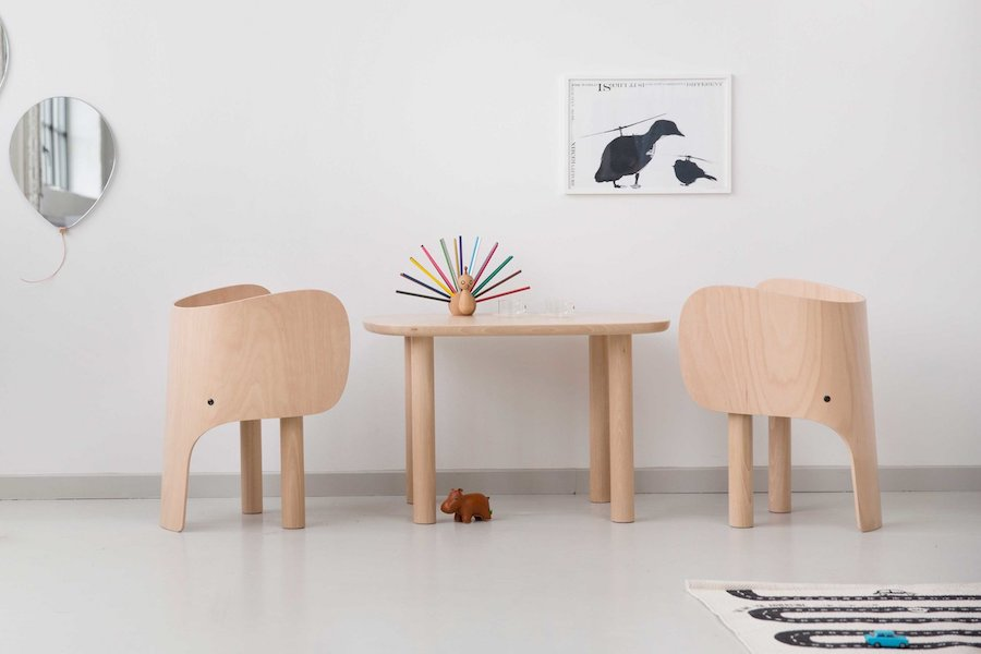 6 brilliant kids designs on show at Maison Objet 2018 - Elephant series by Marc Venot for EO - Ph. by Marc Venot.